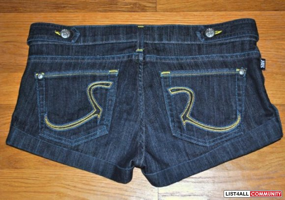 Rock & Republic Simon Shorts in Vain Wash (RARE!) - Size 28 (27)