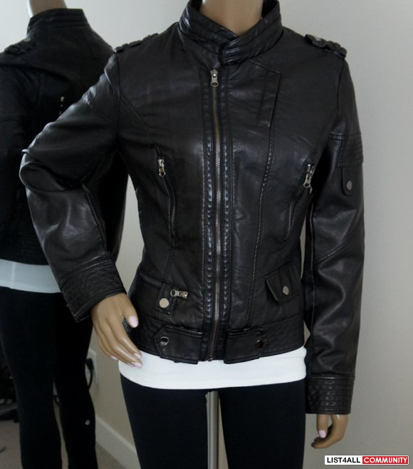 ROMEO + JULIET COUTURE Black Leather Jacket - Women's M