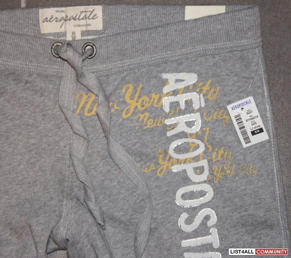 AEROPOSTALE Bermuda Lounge Sweat Shorts Gray Womens S/M