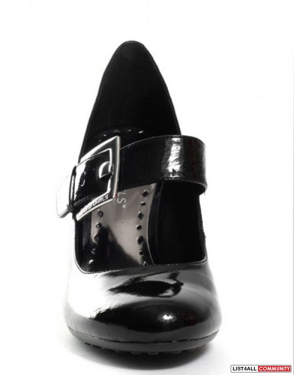 Black Patent Leather   Inch Heal Women S Dress Shoe