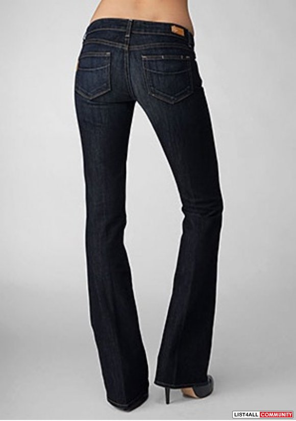 PAIGE Laurel Canyon Bootcut Dark McKinley Wash Jeans Women's 26