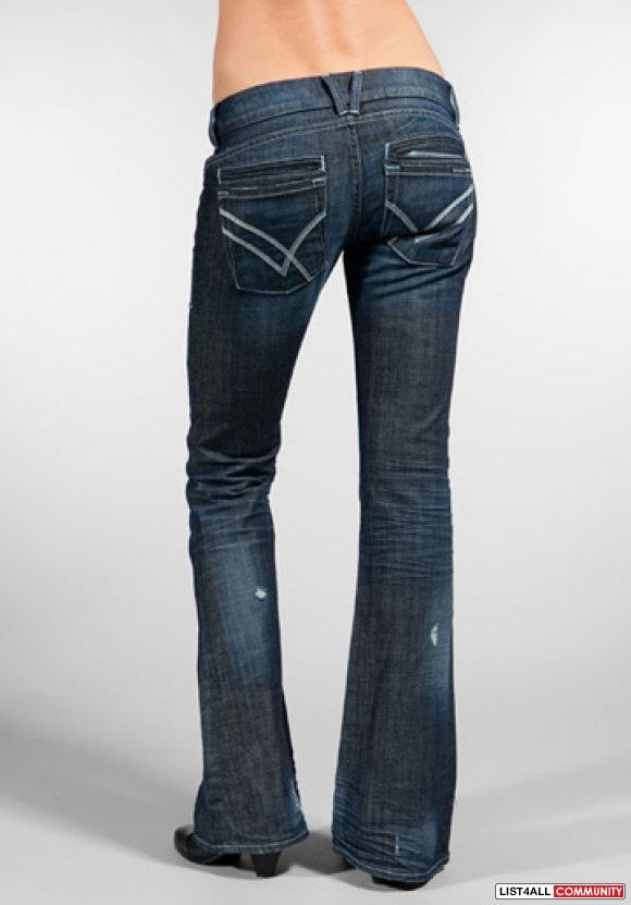 WILLIAM RAST Savoy Low Rise Distressed Ringo Jeans Womens 27/26