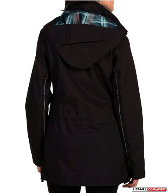 Adidas by Stella McCartney $600 Waterproof Black Rain Jacket Womens M