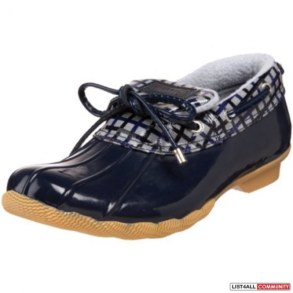 SPERRY TOP-SIDER for J.CREW Waterproof Rubber Rain Shoes Womens 8