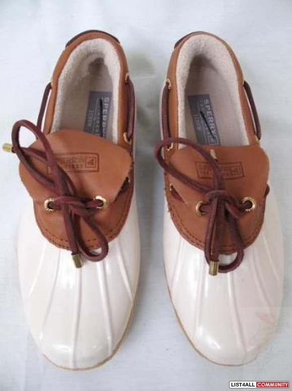 SPERRY TOP-SIDER for J.CREW Waterproof Rain Shoes Women's 8