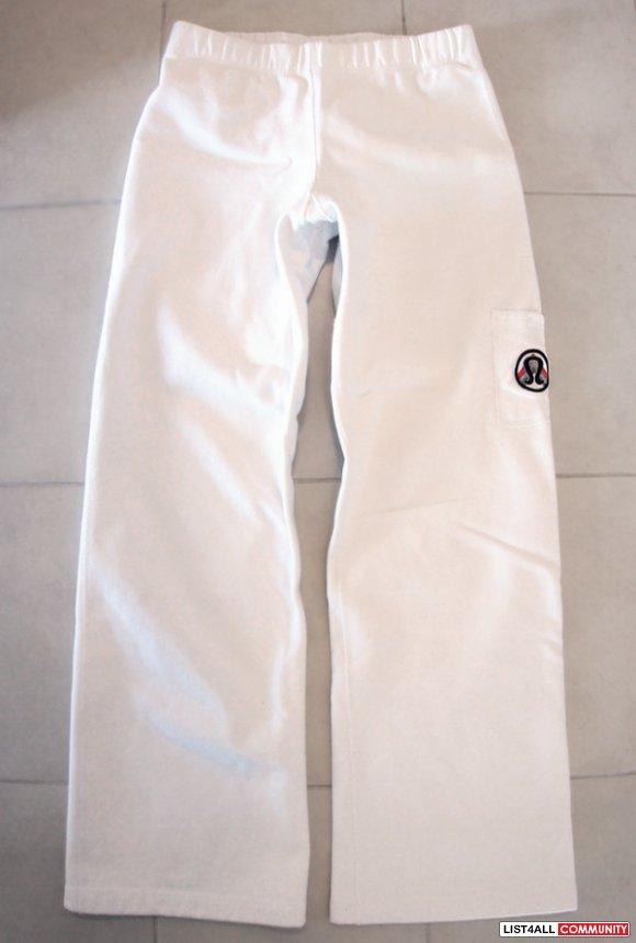 Lululemon Thick White Cotton Cuddle Sweat Pants 6 8 Rare