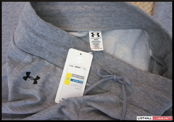 UNDER ARMOUR Grey Gym Lounge Pants/Sweatpants Women's M
