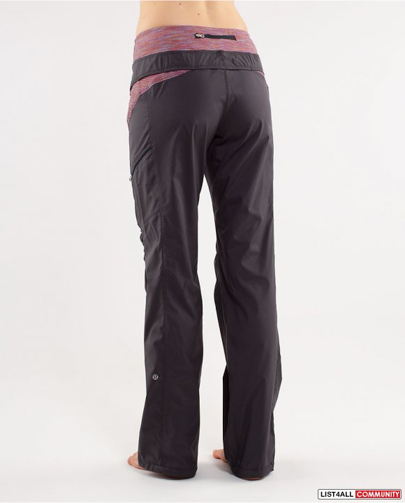 bba9df4a42 LULULEMON RUN: Travel To Track Pant/Pants Gray Women's Six 6 ...