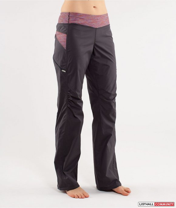 21b7934f63 ... LULULEMON RUN: Travel To Track Pant/Pants Gray Women's Six 6 ...