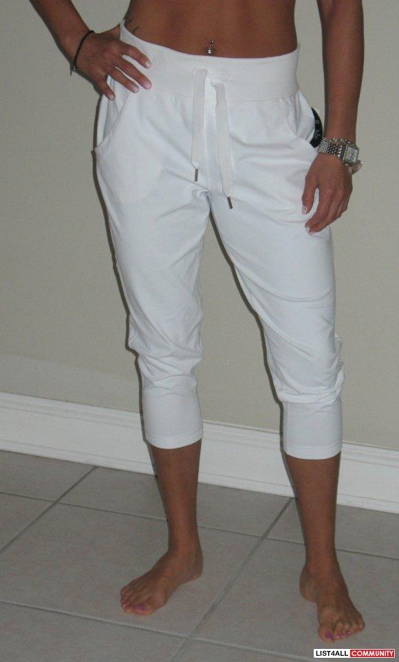 Lululemon Free Fall Crop Pant Capri Pants White Women S 6