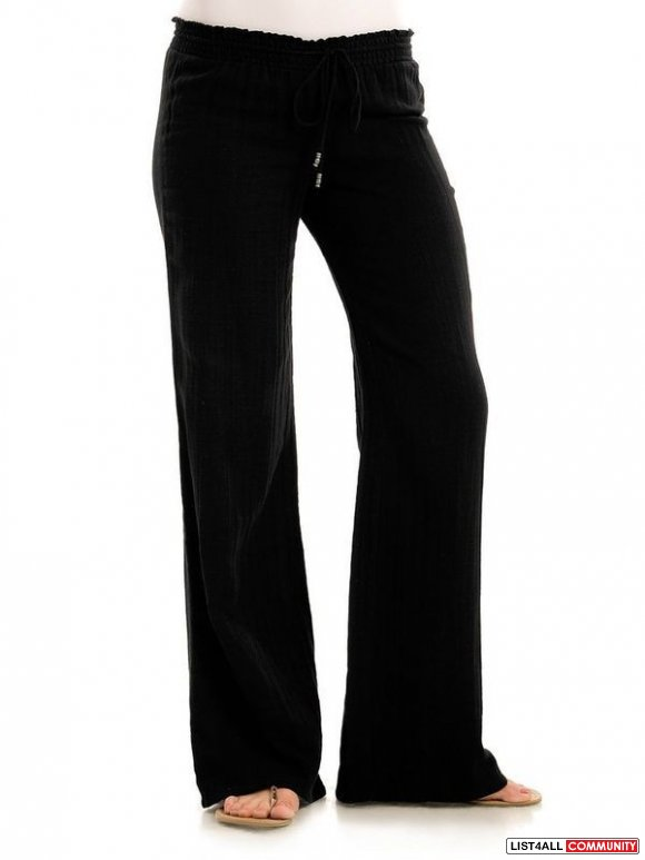 GUESS Sloane Low Rise Lightweight Pants Black Women's Small