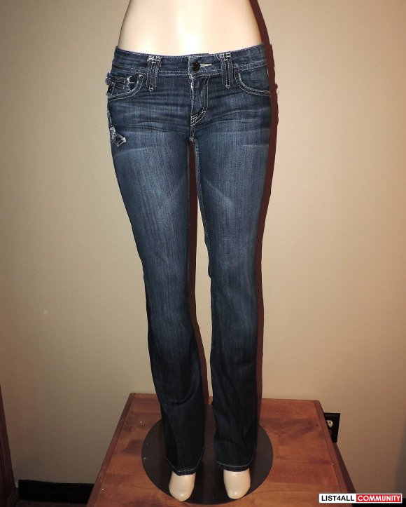 TAVERNITI SO Janis Twist 17 Designer Bootcut Jeans Womens 28