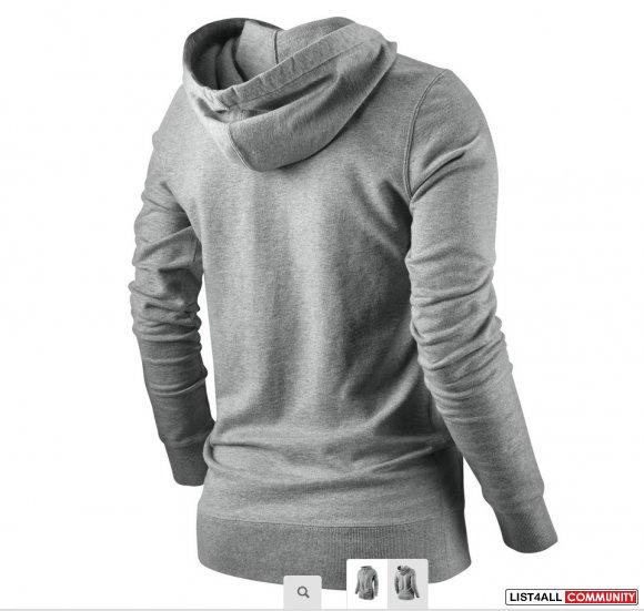 NIKE Slim Fit Zip up 6.0 Icon Hoody/Hoodie Jacket Top Grey Womens S