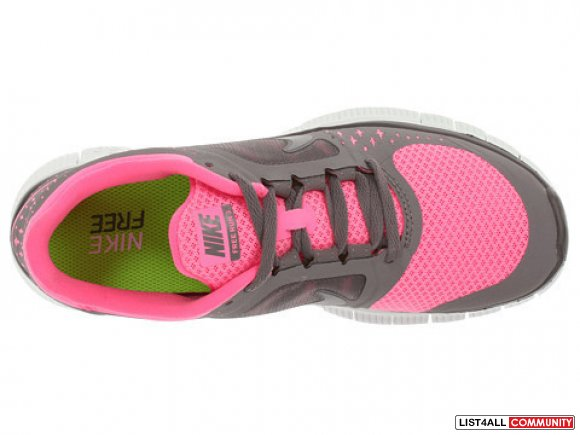 NIKE Free Run+ 3 5.0 Running Shoes PINK+GREY Women's 8/8.5