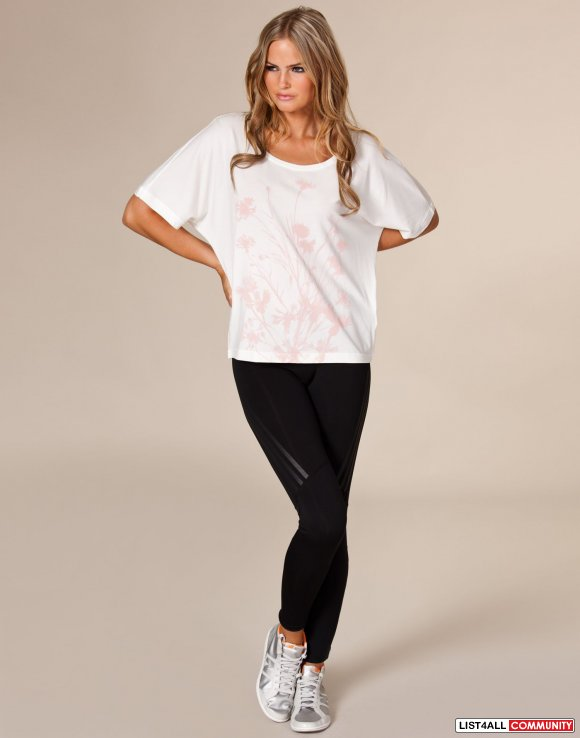 5e73b0f0bd8f5 ... ADIDAS by Stella McCartney White On Off Shoulder Tee Top S M ...