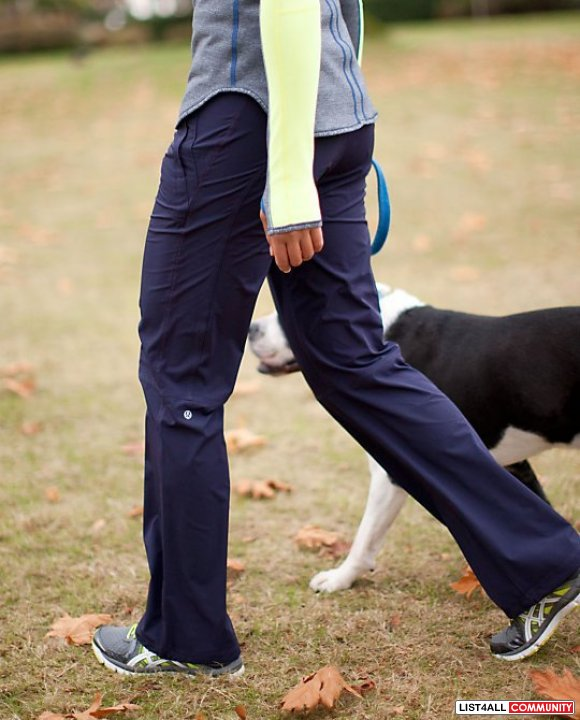 LULULEMON RUN: Dog Runner Pants Lined w/ Rulu Tights BLACK 6
