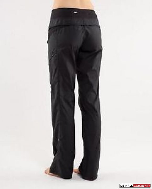 LULULEMON Run: Travel to Track Studio Pants Black Women's 4