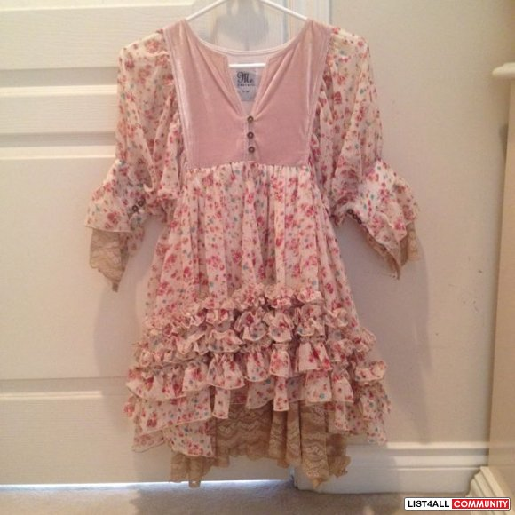 Japanese brand Me Couture floral dress size s (new)