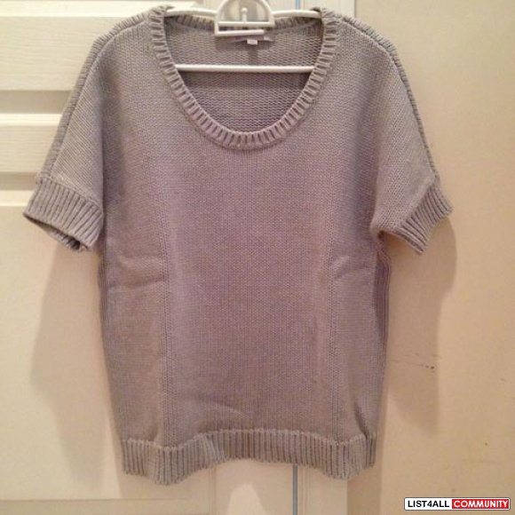 Gap grey knit top size s
