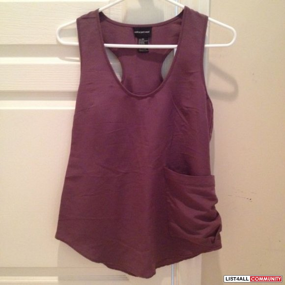 Aritzia Central Park West purple top size xs