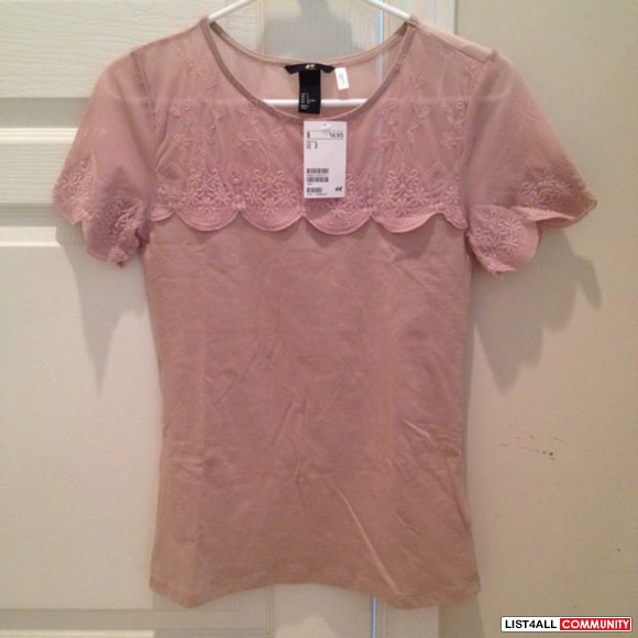 H&M pink top size s (new)