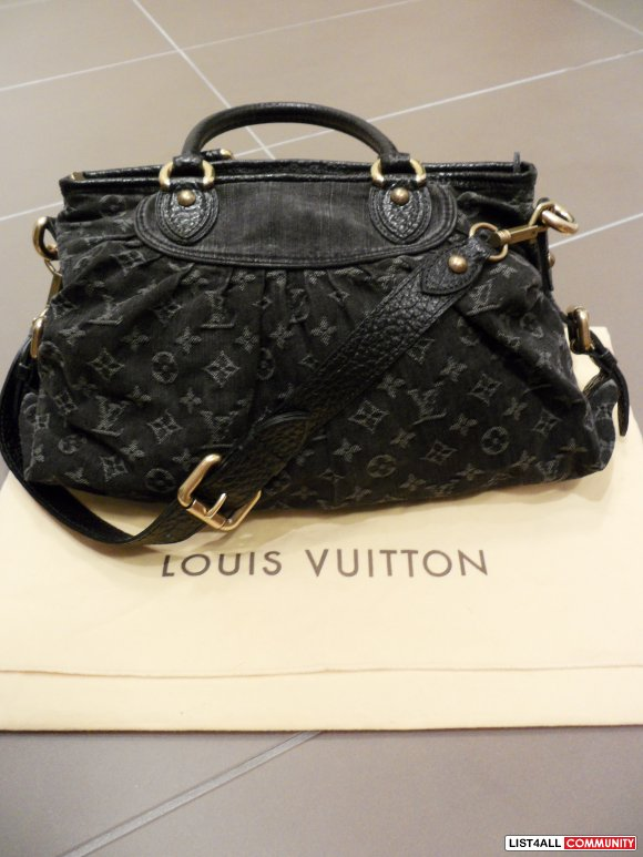 louis vuitton neo cabby mm denim noir