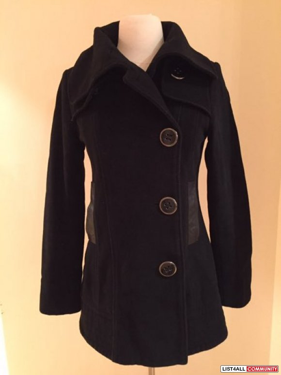 Mackage black wool coat
