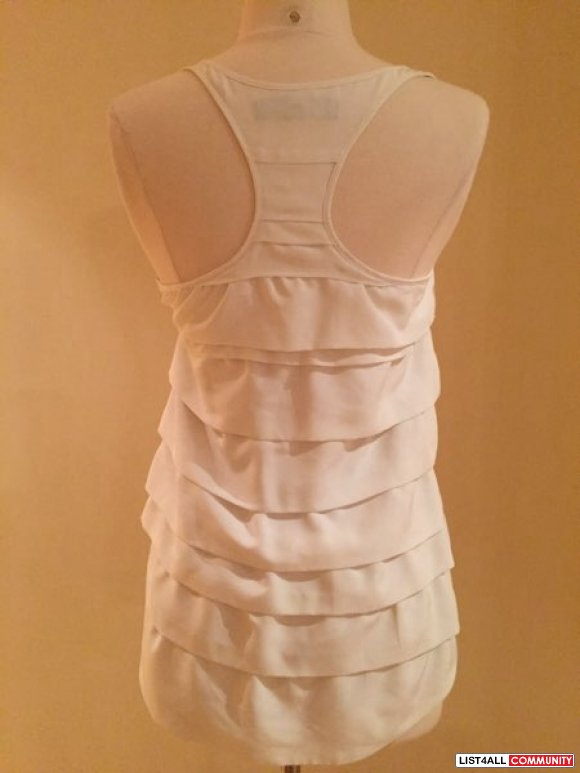 aritzia - central park west exclusive white tiered tank