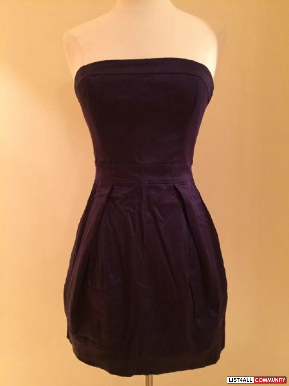 french connection purple satin dress