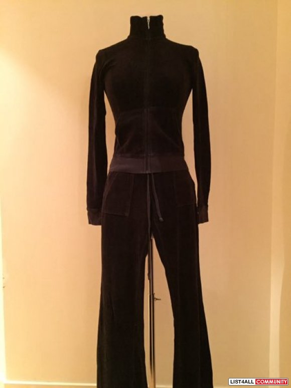 juicy velour black jacket and pant