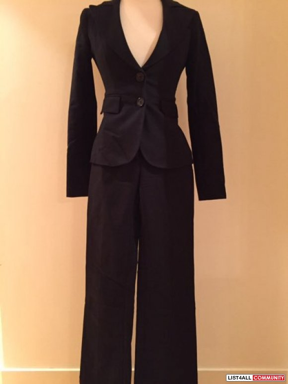 aritzia - talula babaton cotton spandex blazer and pants