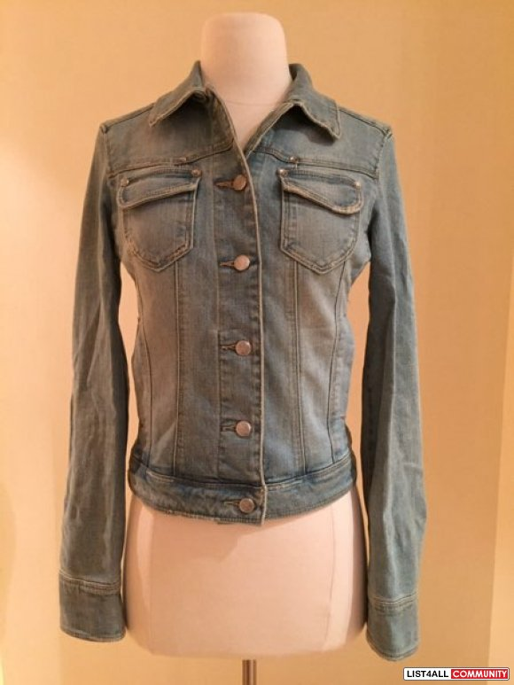 MNG jeans light wash jean jacket