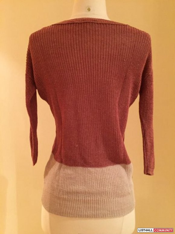 Aritzia - Wilfred 2 toned knit sweater