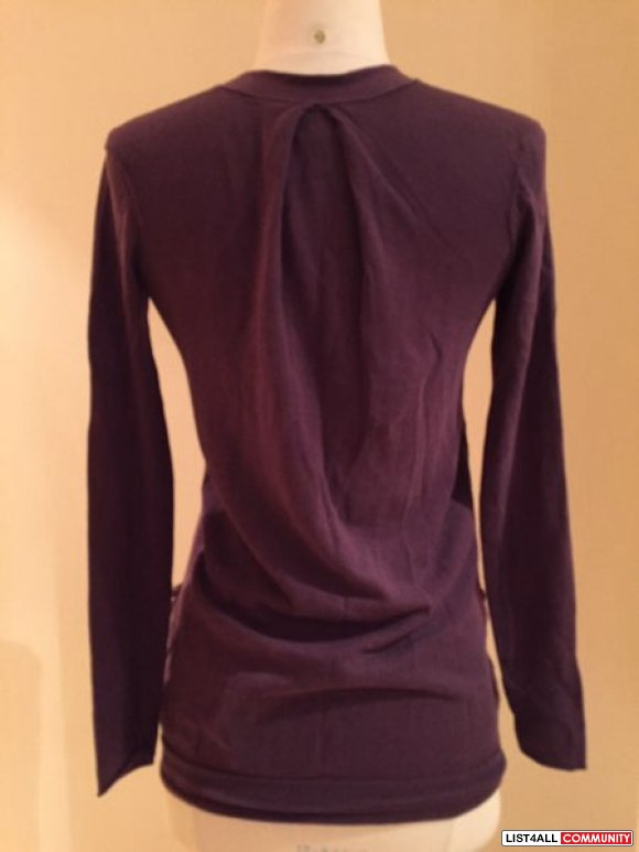 Aritzia - Wilfred purple button up cardigan