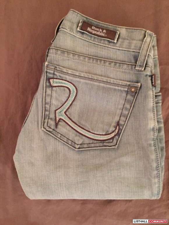 Rock & republic boot cut light denim jeans