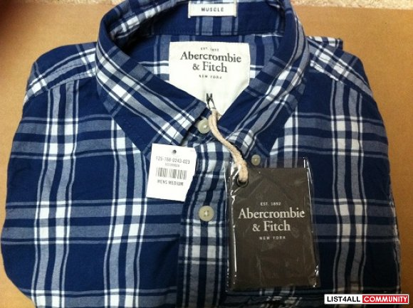 Brand new with tags Abercrombie & Fitch button long sleeve shirt