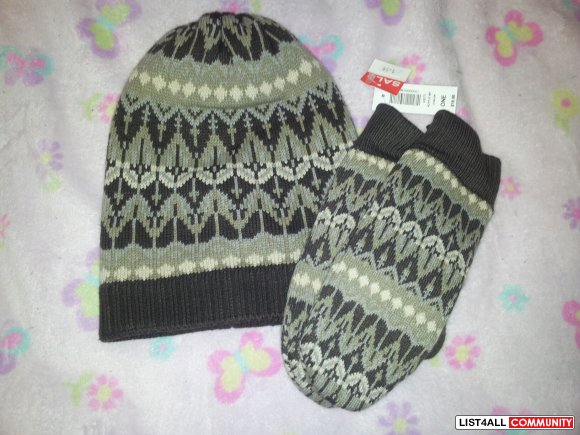 talula toque and mittens NEW