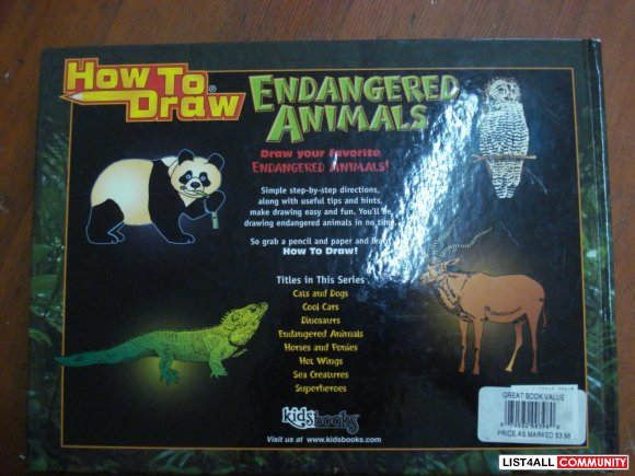 HOW TO DRAW: endangered animals (Hardcover)