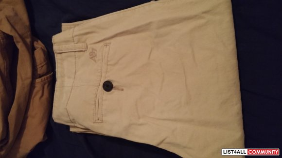 NEVER WORN Aeropastle Khaki pants. Size 30-30