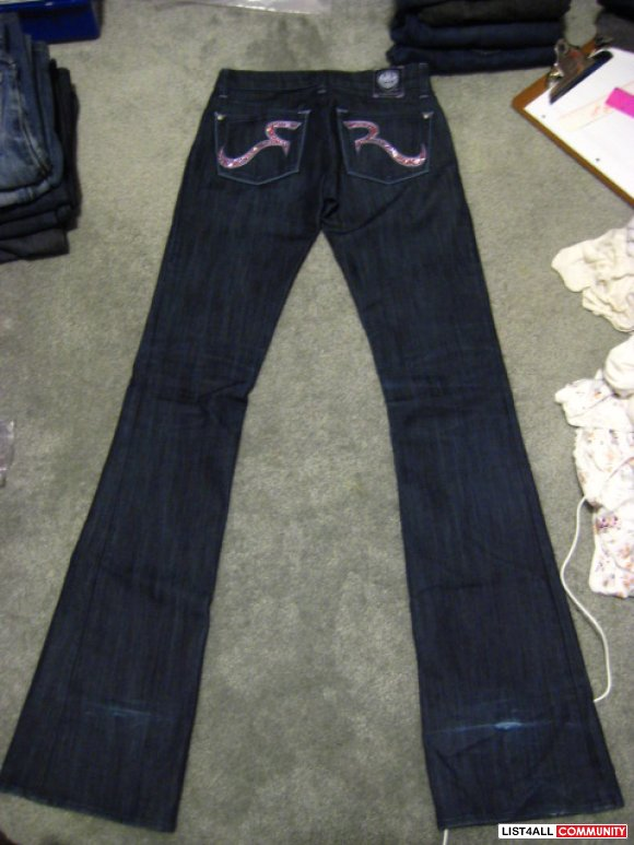 Rock Amp Republic Swarovski Crystal Jeans Size 23