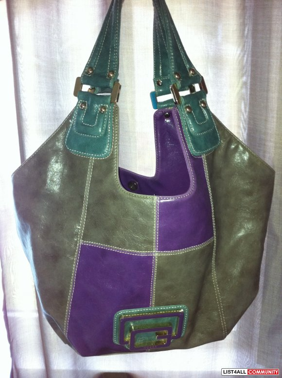guess large multi-colour  bag $40 SOLD