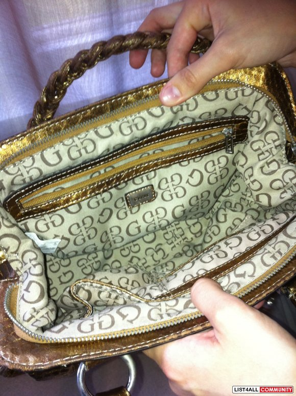 guess bronze bag $25 SOLD