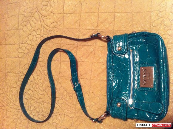 guess turquiose satchel $30 SOLD