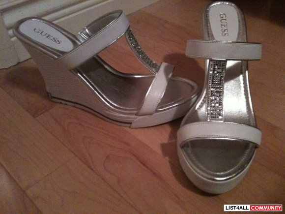 guess shoes-white