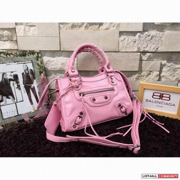 Balenciaga Classic City Mini Bag E7804 W23H15D8 Pink