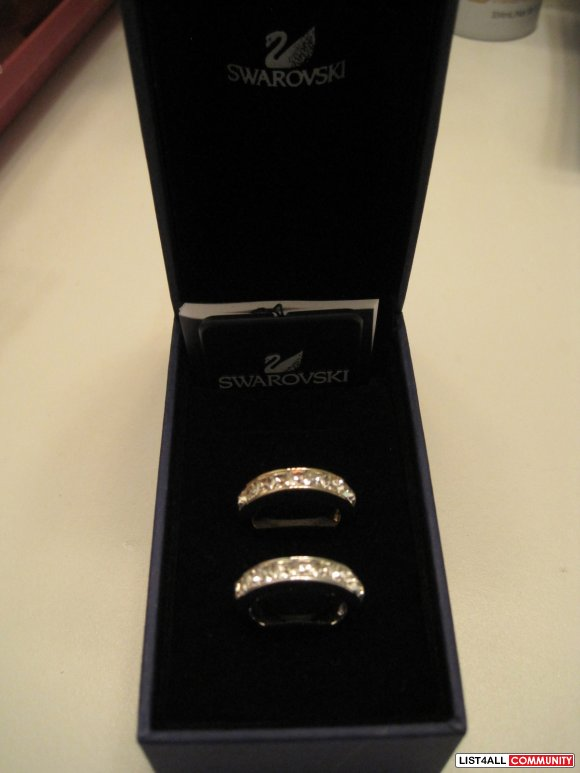 Swarovski Channel Ring Set Size Small PRICE JUST REDUCED!