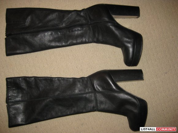 Aldo soft leather size 9 knee high boots