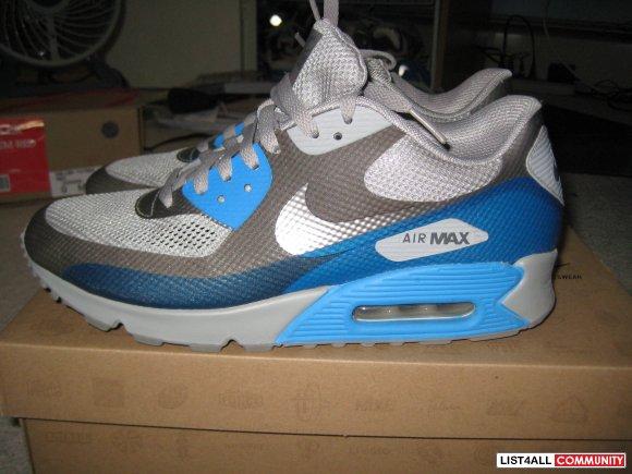 ... Nike Air Max 90 Hyperfuse (Grey/Blue Glow)