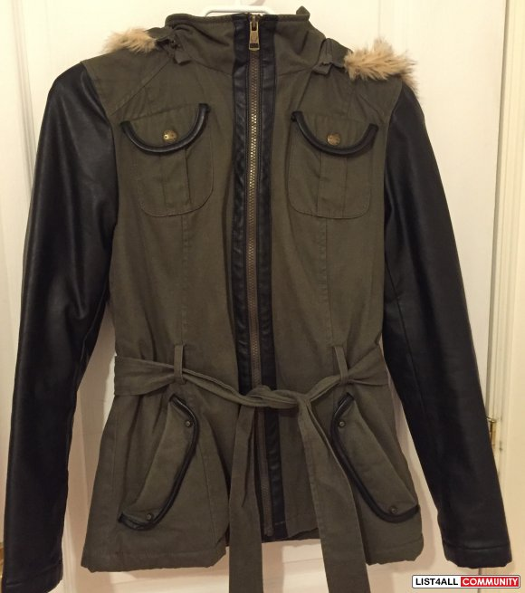 BUFFALO - DAVID BITTON MILITARY JACKET  XS