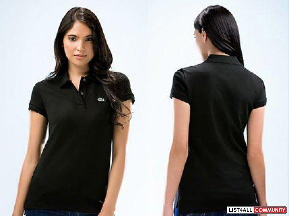 6d2591084723 Lacoste Polo Women Shirt Short Sleeve - Black Color J    poloabc ...